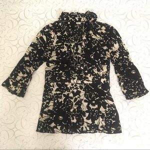 J. Crew   Floral Ruffle Top 4